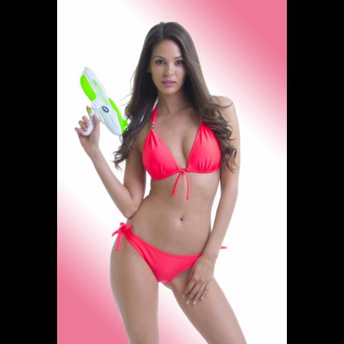 4eeb3ed168 Neon piros, kellékes, push up háromszög kétrészes fürdőruha - Claudia bikini