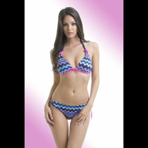 772a43957b Színes cakkos oldalpántos kétrészes fürdőruha - Claudia bikini