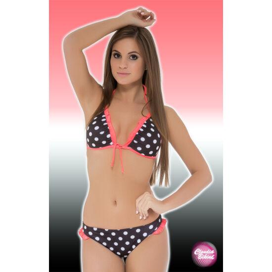e43472335d Fodros, mintás háromszög bikini, féltangával - Összes Claudia ...