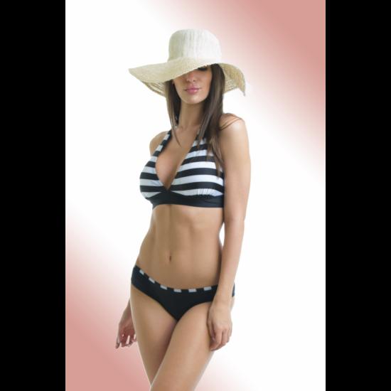 adc950f70 Csíkos háromszög bikini nagyméretű felsőrésszel