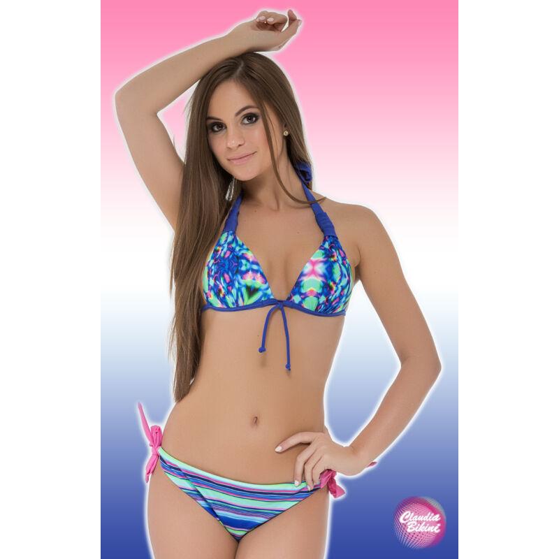 a80f9528fe Mintás háromszög bikini, féltangával - Bikini - Claudia Bikini ...