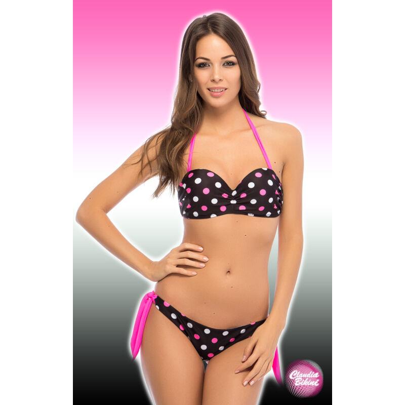 Kép 1 3 - Pöttyös push up bandeau bikini d04470e6c2
