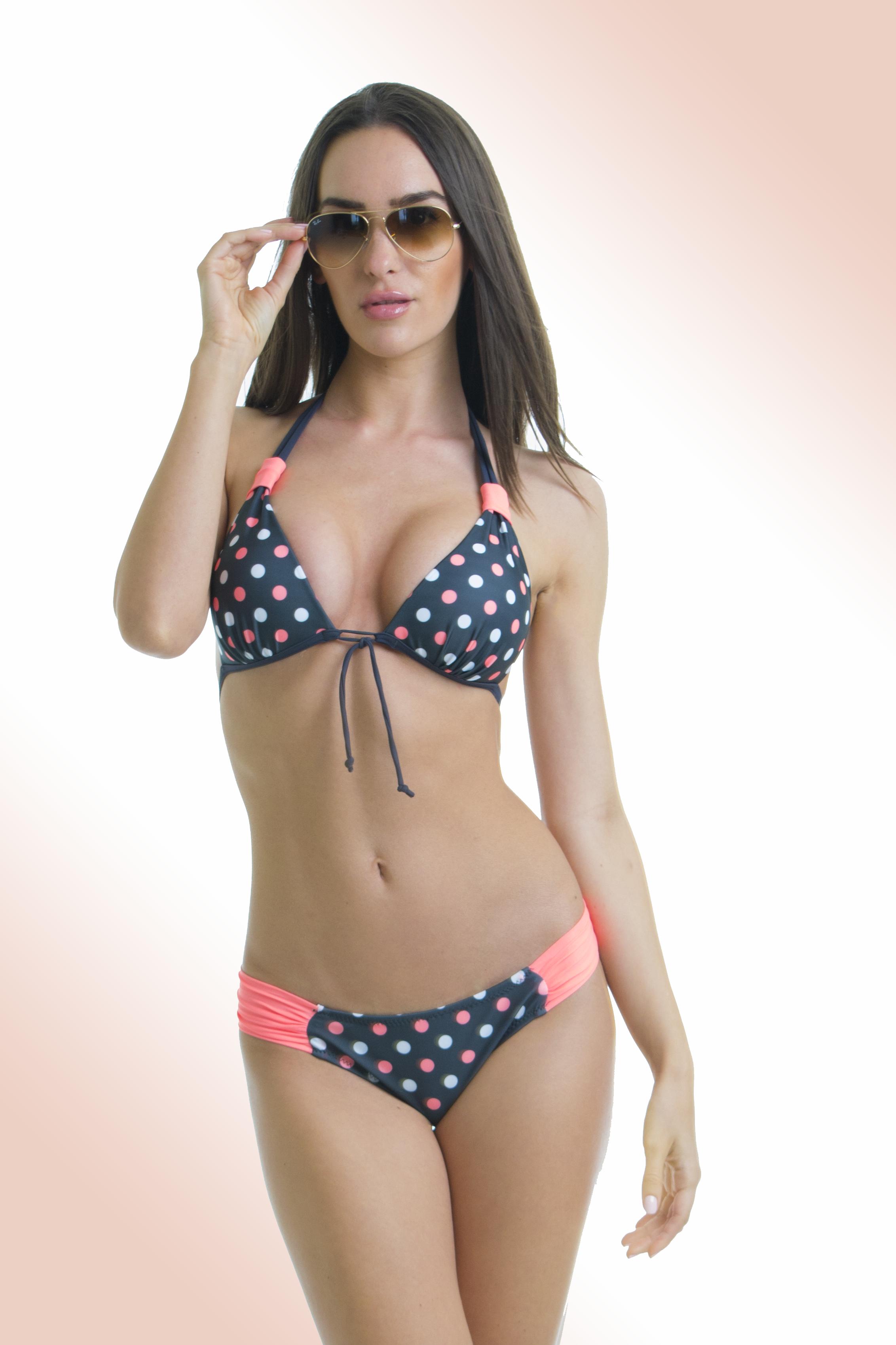 90bc5e91c Pöttyös háromszög bikini, normál alsóval