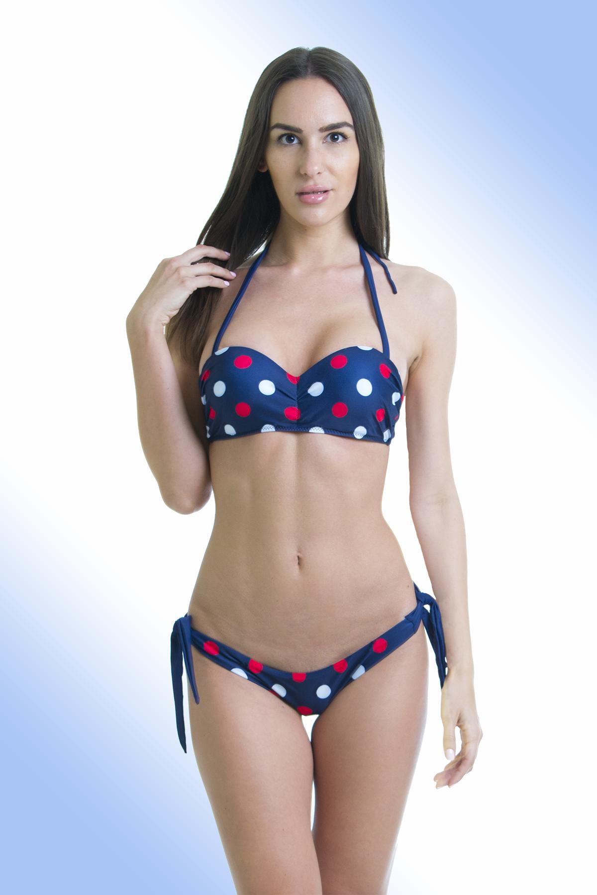 Mintás push up bandeau bikini 2ca545a782